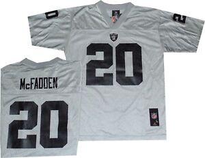 Oaklan Raiders Darren McFadden Outerstuff Silver Throwback YOUTH Jersey 8-20 $50