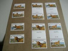 GUERNSEY    202-5   1980 GOLDEN GUERNSEY GOATS   SINGLE STAMP AND GUTTER PAIR