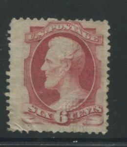 1870 US Stamp #137A 6c Mint I. Grill Part OG Catalogue Value $7000 Certified