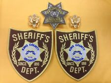 Walking Dead Uniform Sheriff BADGE + Collars Eagle INSIGNIA Pin + Shoulder Patch