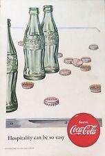 1950's Original Coca-Cola Magazine Ad American Coke Bottle Lurline Matson