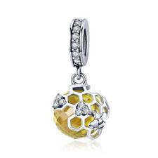 European Silver CZ Charm Crystal Beads Fit Necklace Bracelet Chain DIY J001