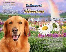 Golden Retriever Memorial Rainbow Bridge Poem Personalized w/Pet's Name-Dog Gift