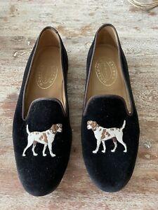 Stubbs & Wootton - Men's Velvet Loafers Slippers Size 11.5 Dogs 11 1/2