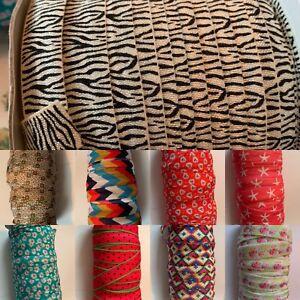 FOE Elastic Hairband 2 Metres 15mm Foldover Elastic Band for Headbands Printed