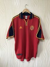 SPAIN 1999 2002 HOME FOOTBALL SHIRT SOCCER JERSEY ADIDAS VINTAGE RED