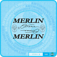 Merlin USA Oreas Bicycle Decals Transfers Stickers - Set 5 - Black