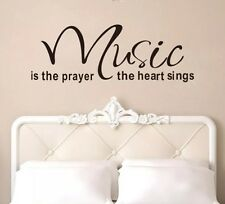 Music wall decal sticker home decor studio quote