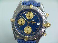 Armbanduhr Breitling Chronomat Ref. B13050 Stahl/Gold Lederarmband Faltschließe