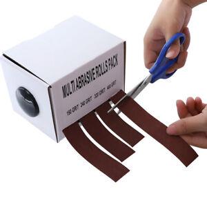 Boxed Assorted Glass Soft Wood Turners Emery Cloth Polishing Abrasive Rolls