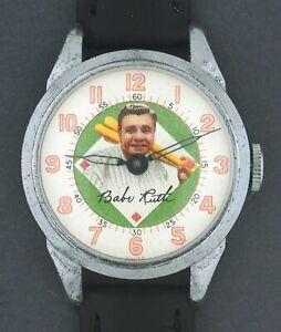 FOR REPAIR - 1940's Exacta Time Babe Ruth Yankees Baseball Character Watch