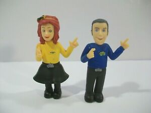 """2 THE WIGGLES 3"""" PVC FIGURES EMMA & ANTHONY WICKED COOL TOYS"""