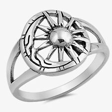 USA Seller Moon & Sun Ring Sterling Silver 925 Best Oxidized Jewelry Selectable