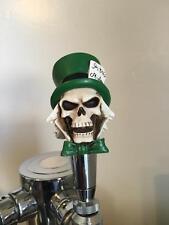 New figural Mad Hatter Skull home bar kegerator beer tap handle dead walking