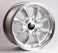 15X7 +30 Rota Rb Silver 4X100 Wheels Fit Vw Cabriolet Jetta Golf Mk3 Mirage Mr2