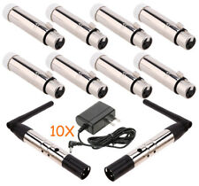 2*  DMX512 Wireless Male XLR Antenna Transmitters with 8* Female Receivers R4G6