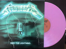 Metalica - Ride the Lightning Unofficial Pink Colored Vinyl LP