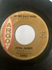 "Northern Soul 45/ Etta James ""Seven Day Fool""   Hear"