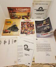 Vtg Lionel Classics Tinplate Parts Catalog Book Lot Model Trains 027 Ho 1977 Usa