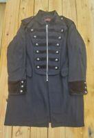 Tripp NYC Men's Trench Coat Jacket Studded Size 2X  Goth Punk Rock