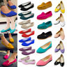 Womens Ladies Ballerina Ballet Dolly Pumps Slip On Flat Boat Loafers Shoes Party