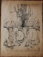 Ronald SEARLE - Eau-forte gravure signée numérotée etching Festival 1971 ***