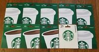 Starbucks Siren UNCHARGED NO VALUE Collectible Gift Cards Lot of 10 New On Card