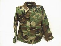 BDU shirt top XLarge Regular woodland camouflage cotton ripstop USA made fabric