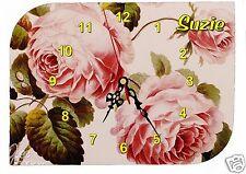 horloge pendule murale roses anciennes prénom choix réf F 33