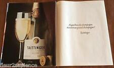 PUBLICITE de presse Champagne Taittinger French ad 1981