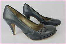 Court shoes FOSCO Leather Gray Blue T 40 VERY GOOD CONDITION