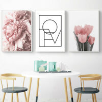 AU_ Nordic Tulip Flower Canvas Wall Painting Picture Poster Art Home Decor Eyefu