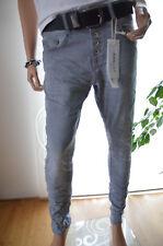 JEWELLY LEXXURY Jeans Hose Kurzgröße Baggy Boyfriend 40 grau Classic Neu Italy