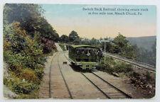 VINTAGE POSTCARD - SWITCH BACK RAILROAD SHOWING RETURN TRACK railway