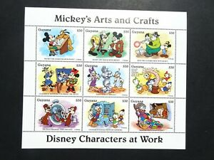 DIS Cartoon thematic Walt Disney Mickeys Arts & Crafts stamp Mini sheet UMM