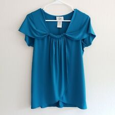 Ice womens blue top size small short sleeves summer
