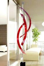 Abstract Metal Sculpture Indoor Outdoor Art INTENSE RED Decor SIGNED Jon Allen