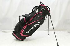 Brand New Tm 19 Taylormade Select Stand Carry Golf Bag Dual Straps Black / Pink