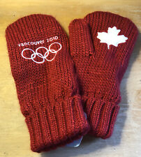 CANADA Winter OLYMPIC RED MITTENS Vancouver 2010 SIZE Large/extra Large