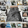 Luxurious 3D Animals Printed Stylish Duvet Cover Sets Reversible Bedding Sets GC