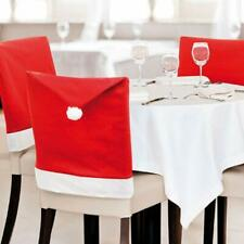 Christmas Chair Covers (Red and White) - Set of 6 Dinning Santa Hat Chair Covers