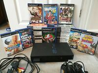 PlayStation 2 PS2 Console 34 Game Bundle (Some Rare) Controller + Memory Card