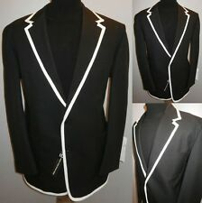 NEW BLACK 46 THE PRISONER STYLE COLLEGE BOATING BLAZER SUIT JACKET SPORT COAT