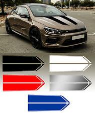 BANDES CAPOT RACING VW AUDI PORSCHE BMW 100cmX19cm AUTOCOLLANT STICKER BD580