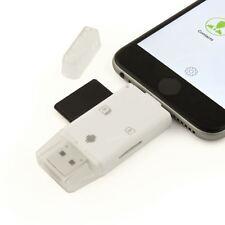 3 En 1 Lecteur de Carte Mémoire USB OTG Micro SD ADAPTATEUR IPHONE IPAD GALAXY