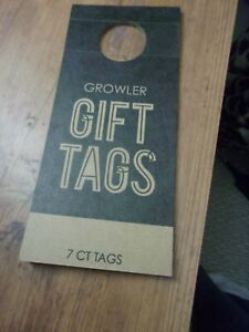 Lot Wine Bottle Gift Tags 7ct  growler glass, ceramic, or stainless steel bottle