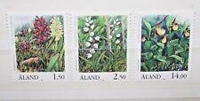 "FRANCOBOLLI ALAND 1989 ""FIORI ORCHIDEE FLORA NATURA"" MNH** SET (CAT.8)"