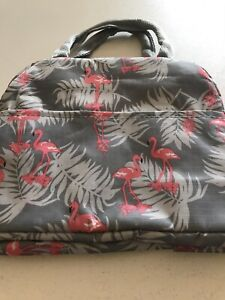 Back To School/Office/Uni Insulated Lunch Bag Zip Round Grey
