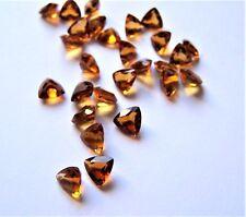 Citrin Trilliant Triangel 7 x 7 mm orange ca 0,80 Carat