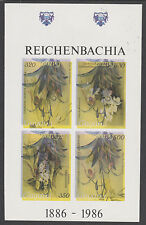 Guyana 5388- 1985 Orchids IMPERF m/sheet INVERTED COLOURS unmounted mint